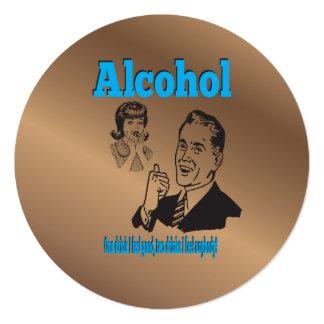 酒宴のジョーカーレトロアルコールユーモアのギャグ カード
