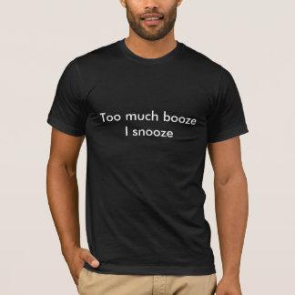酒宴の居眠り Tシャツ