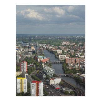 酒宴の川ドイツとの空中写真ベルリン ポストカード