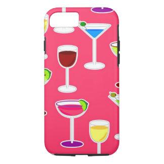 酒精飲料のカクテルパーティー-ピンク iPhone 8/7ケース