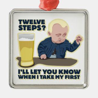 酔ったベビー12のステッププログラムか。 メタルオーナメント