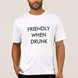 酔った場合フレンドリー Tシャツ