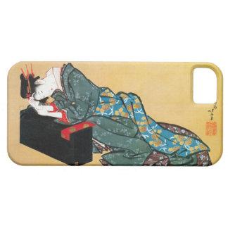 酔った女、北斎によって飲まれる女性、Hokusai、Ukiyo-e iPhone SE/5/5s ケース