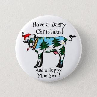 酪農場のクリスマスボタン 5.7CM 丸型バッジ