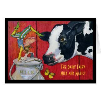 酪農場の妖精の挨拶状 グリーティングカード