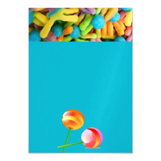 酸っぱい咀嚼のgummieのフルーツの菓子のデザートのパーティのシャワー マグネットカード