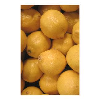 酸っぱく黄色いレモン 便箋