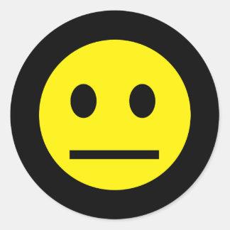 酸の世代別黄色のスマイリーのステッカー ラウンドシール
