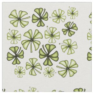 酸の緑の幸運なシャムロックのクローバー ファブリック