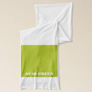 酸の緑 スカーフ