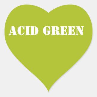 酸の緑 ハートシール