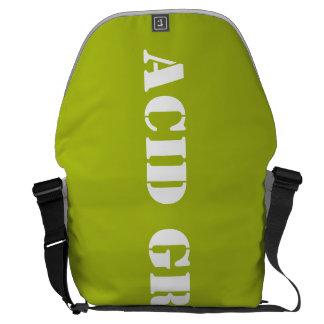 酸の緑 メッセンジャーバッグ