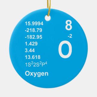 酸素のオーナメント(青のライト) セラミックオーナメント