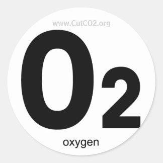 酸素のステッカー ラウンドシール