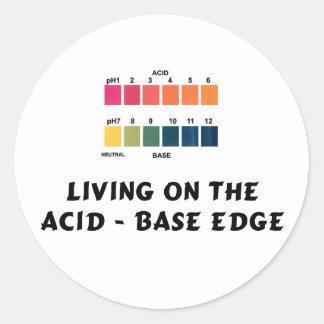 酸/基礎端の生存 丸型シール