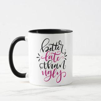 醜いより、手の教養があるデザイン遅くよくして下さい マグカップ