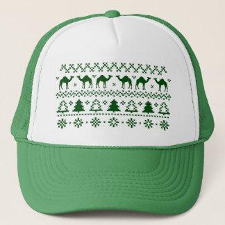 醜いクリスマスのセーターのこぶ日のラクダの帽子 キャップ