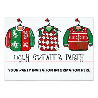 醜いクリスマスのセーターのパーティの招待状 カード
