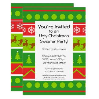 醜いクリスマスのセーターのパーティー カード