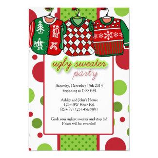 醜いクリスマスのセーターのパーティ 8.9 X 12.7 インビテーションカード