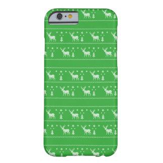 醜いクリスマスのセーターのiPhoneの場合-緑 Barely There iPhone 6 ケース