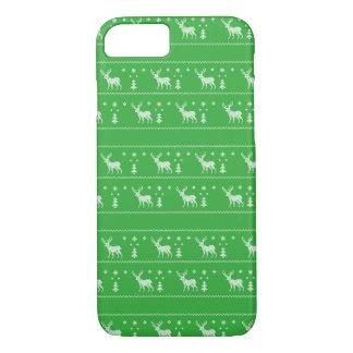 醜いクリスマスのセーターのiPhoneの場合-緑 iPhone 8/7ケース