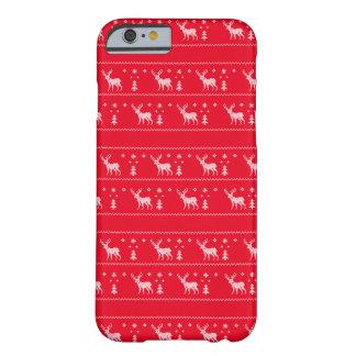 醜いクリスマスのセーターのiPhoneの場合-赤 Barely There iPhone 6 ケース