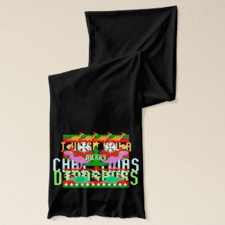 醜いクリスマスのセーターパターン恐竜 スカーフ