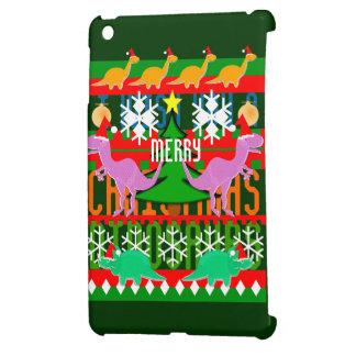 醜いクリスマスのセーターパターン恐竜 iPad MINIケース