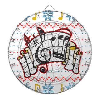 醜いクリスマスのセーター音楽ノート ダーツボード