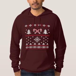 醜いセーターのキャンディ・ケーンのクリスマスのセーターのおもしろい パーカ