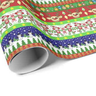 醜いセーターのクリスマスのギフト用包装紙 ラッピングペーパー