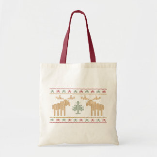 醜いセーターのクリスマスの休日の再使用可能なトートバック トートバッグ