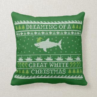 醜いセーターのスタイルのクリスマスの鮫の枕 クッション