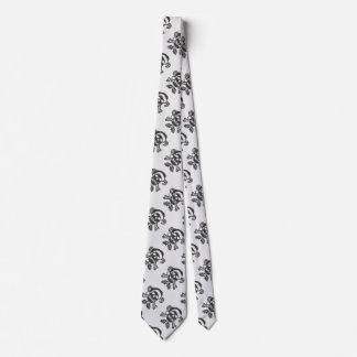 醜いセーターのスタイルのサンタの骨が交差した図形のスカル ネクタイ