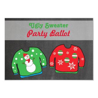 醜いセーターのパーティのコンテストの投票の投票用紙 カード