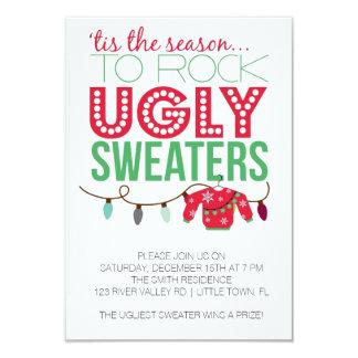 醜いセーターの休日のパーティ カード