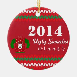 醜いセーターの勝者 セラミックオーナメント