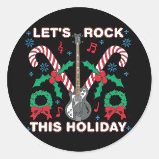 醜いセーターは石をこの休日のデザイン可能にします ラウンドシール