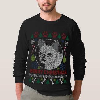 醜いフレンチ・ブルドッグのメリークリスマス スウェットシャツ