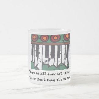 醜い器官のコーヒー・マグ(版2) フロストグラスマグカップ