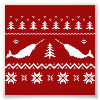 醜いNarwhalのクリスマスのセーター フォトプリント