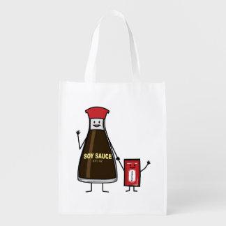 醤油のボトルの包みの子供の子供の香辛料のアジア人 エコバッグ