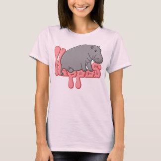 重いカバ-ピンク Tシャツ