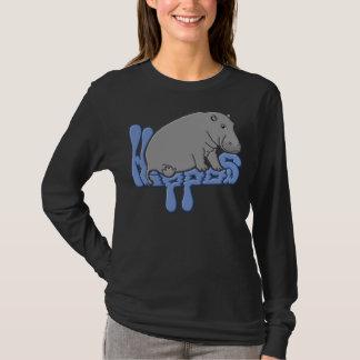 重いカバ-青 Tシャツ