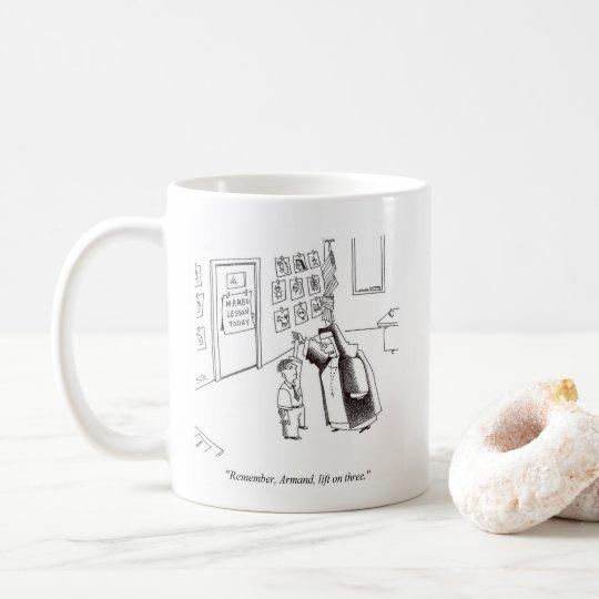重い尼僧の踊りの右の漫画のマグ コーヒーマグカップ