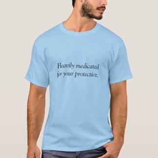 重くmedicatedforあなたの保護ワイシャツ tシャツ