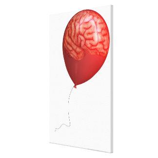 重ねられた頭脳を持つ気球のイラストレーション キャンバスプリント
