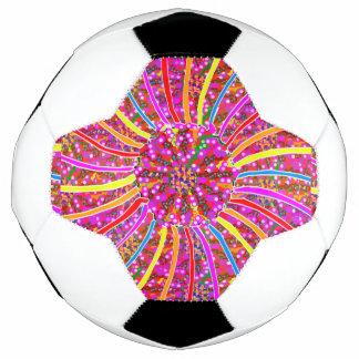 重力力のピンクによってはサッカーボールが開花します サッカーボール