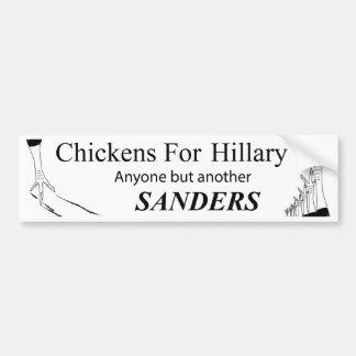 重大な鶏の投票のヒラリーの勝利サポート バンパーステッカー